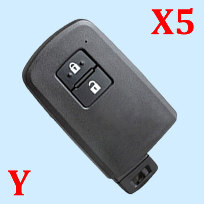 ( Type 15 ) 2 Buttons Smart Key Shell for Toyota - Pack of 5