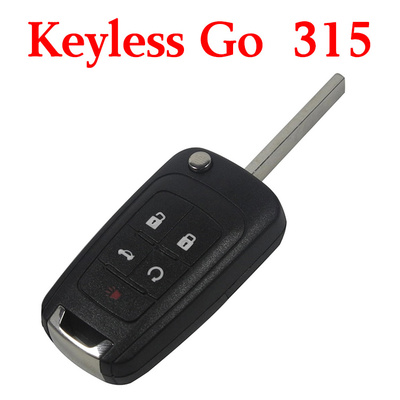 4+1 Buttons 315 MHz Flip Proximity Key for Chevrolet