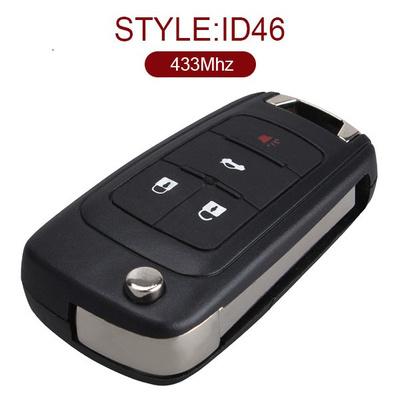 4 Button 433MHz Flip Remote for Chevrolet