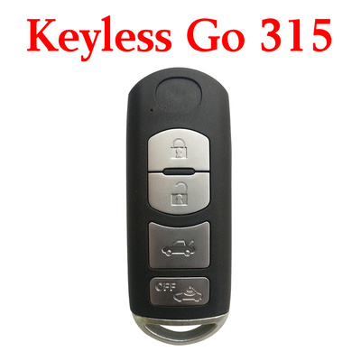 3+1 Buttons 315 MHz Smart Proximity Key For Mazda SKE13D-01 - Using OEM Mainboard