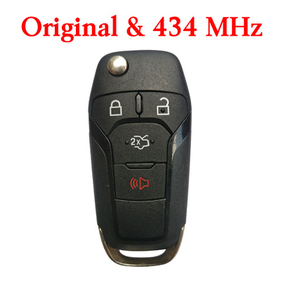 Original 4 Buttons 434 MHz  Flip Remote Key for Ford Fusion 2015+