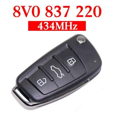 Original 434 MHz Flip Remote Key for Audi A1 A3 Q3 - 8V0 837 220 ( MQB48 )