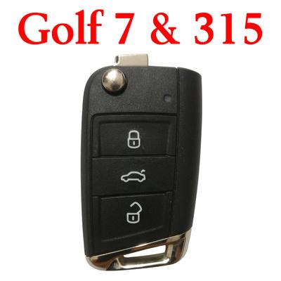 Original 315 MHz Flip Remote Key for VW Golf 7 MQB