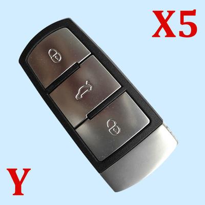 3 Buttons Key Shell for VW Passat Magotan - Pack of 5