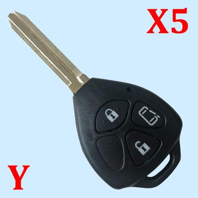3 Buttons Remote Shell Warda for Toyota Prado 5 pcs