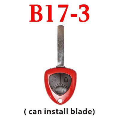 KEYDIY B17-3 KD Ferrari Type Red Remote Control - 5 pcs