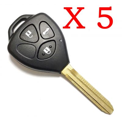 5 Pieces of Xhorse VVDI Toyota Type Universal Remote Control 3 Button  With TOY43 Blade
