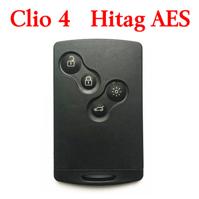 Renault Clio4 Captur 2016 Proximity Smart Card Key 4 Buttons 433MHz AES Transponder