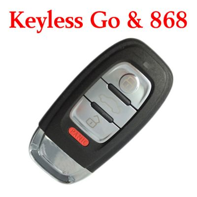 Original 3+1 Buttons 868 MHz Smart Proximity Key for Audi A6L A4L Q5 S5 S6 S7 S8 RS5 A7 A8L - 754J
