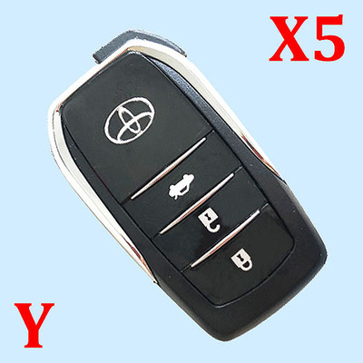 3 Buttons Key Shell for Toyota - Pack of 5