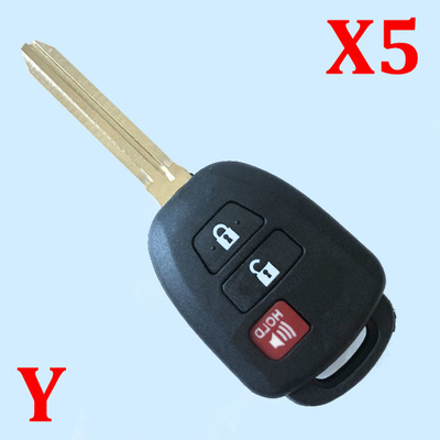 2 Buttons Remote Key Shell for Toyota - Pack of 5