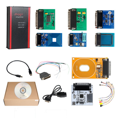 V85 Iprog+ Pro Programmer Full Version with Probes Adapters + IPROG Plus PCF79xx SD Card Adapter + Universal RDIF Adapter