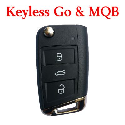 Original  434 MHz Flip Proximity Key for VW MQB Golf 7 - Keyless Go - 5G6 959 752 AB