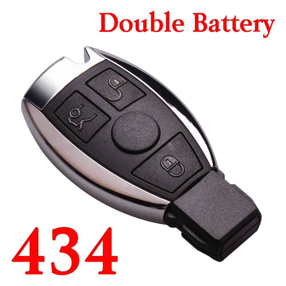 3 Buttons 434 MHz BE Remote Key for Mercedes Benz - with Double Batteries