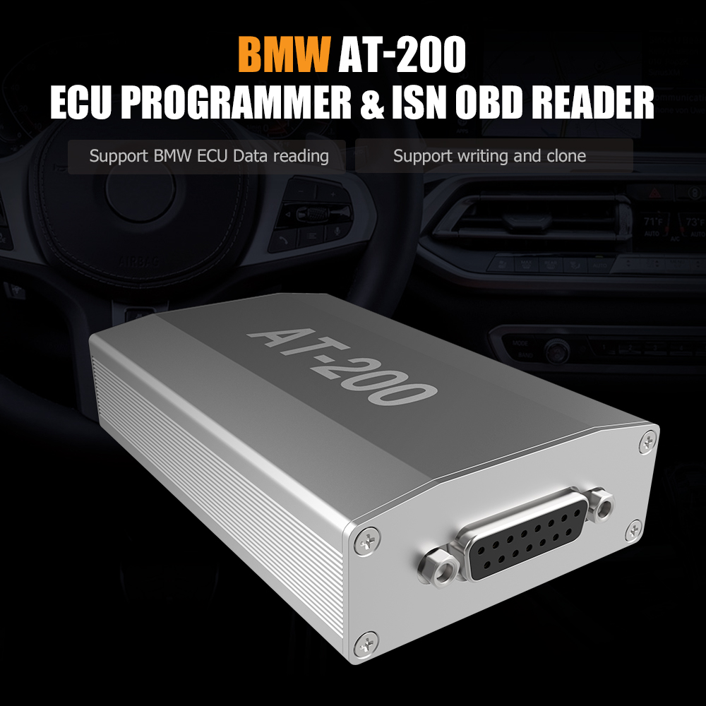 BMW AT-200 AT200 ECU Programmer & ISN OBD Reader Support MSV90 MSD85 MSD87 B48 etc