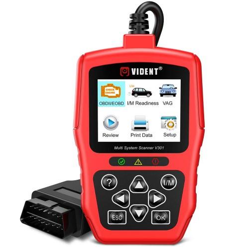 Vident V301 Car Diagnostic Scanner OBD2 Diagnostic Tool for VW Audi Skoda Seat OBD2 Automotive Scanner OBD Code Reader