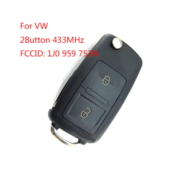 Remote Control Key for VW 2 Button 433MHz FCCID: 1JO 959 753 N