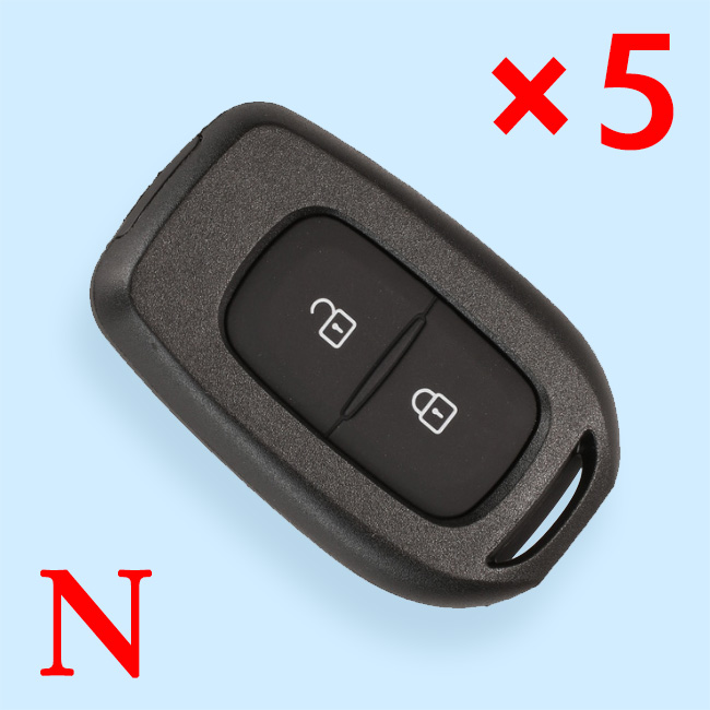 2 Buttons Remote Key Shell for Renault - Pack of 5