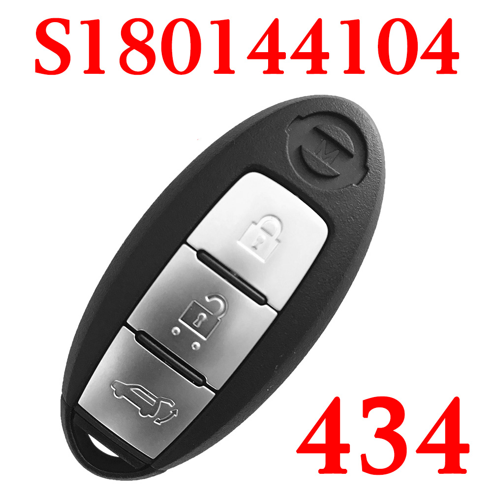 3 Buttons 434 MHz Smart Keyless Go Key for Nissan New Teana X-Trail with 4A Chip - S180144104