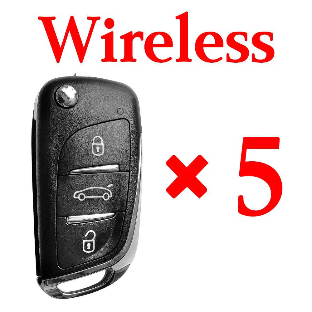5 pieces Xhorse VVDI DS Wireless Type Universal Remote - Comes with Blades & Logos