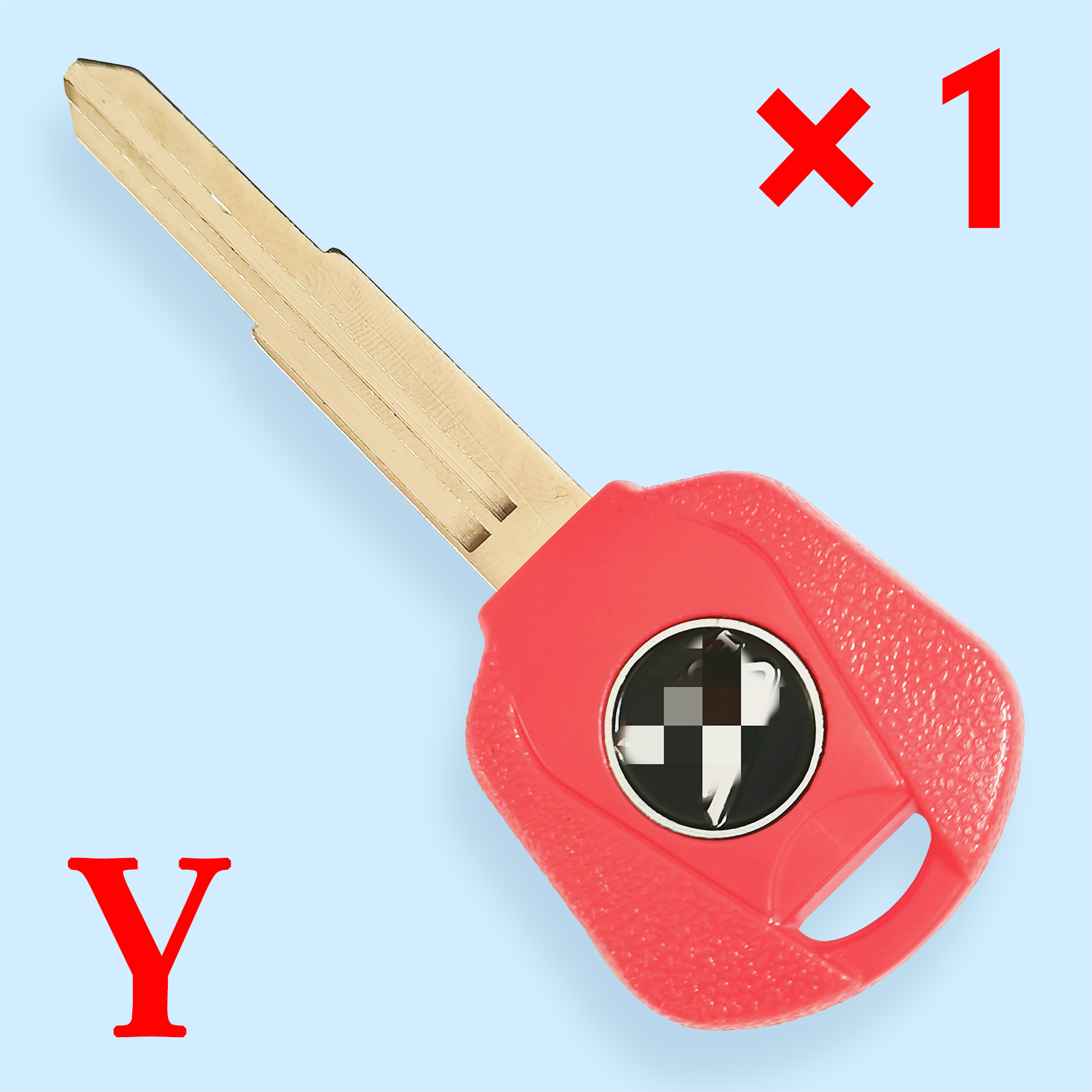 Transponder Key Shell with Left Blade Red color for CB400 CB750  CB1000 CB1300 ST1300 Honda Motorcycle