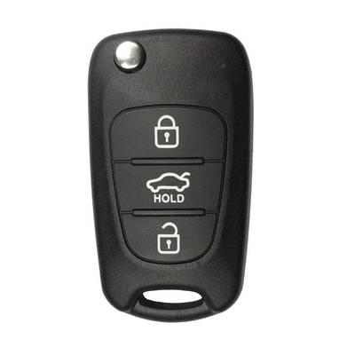 3 Buttons Flip Remote Key Shell Sedan Type TOY48 Blade for KIA (5pcs)