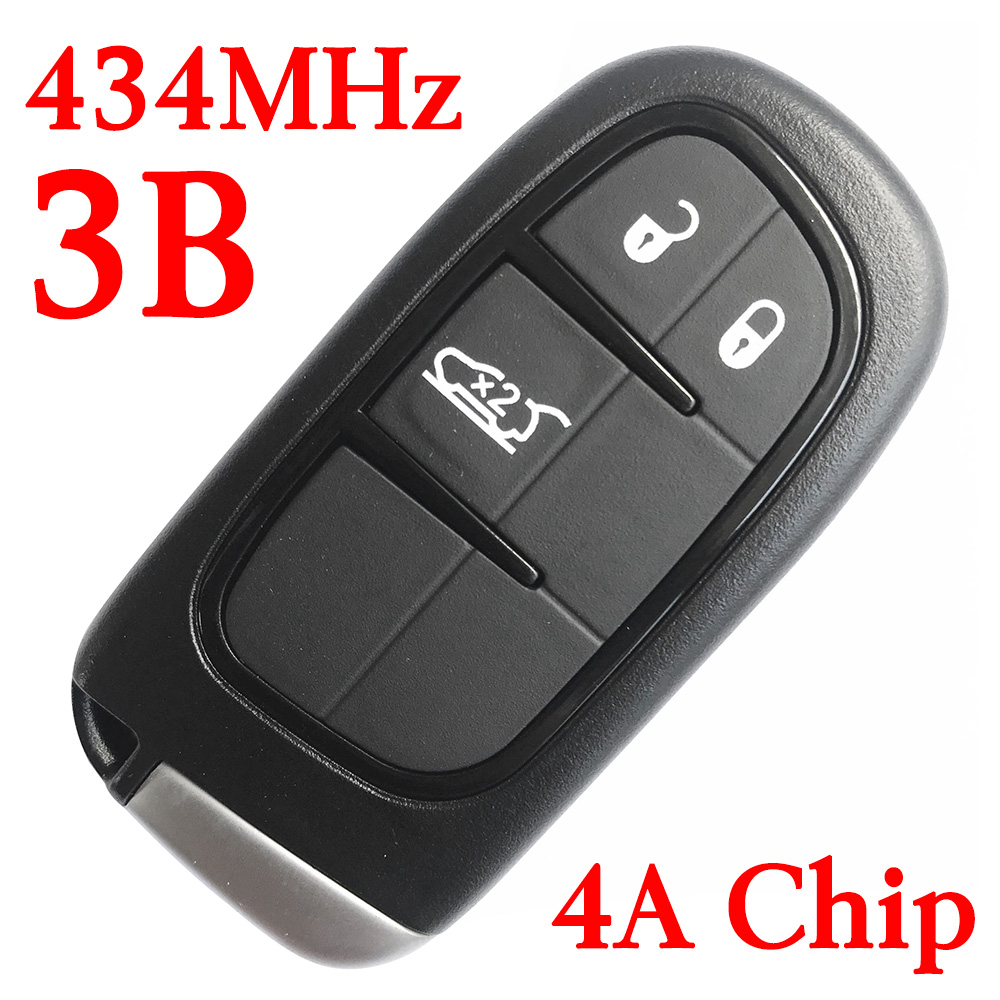 434 MHz 3 Buttons Smart Proximity Key for Jeep Cherokee 2014-2018 GQ4-54T (4A Chip)