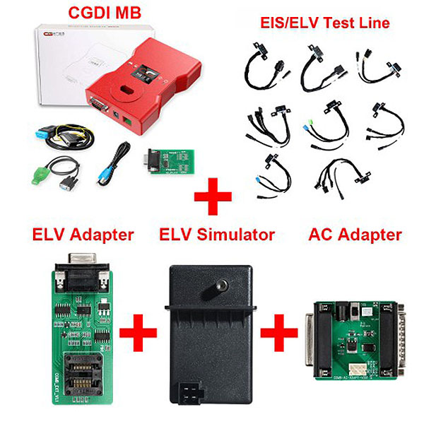 CGDI MB with Full Adapters including EIS/ELV Test Line + ELV Adapter + ELV Simulator + AC Adapter with New Diode