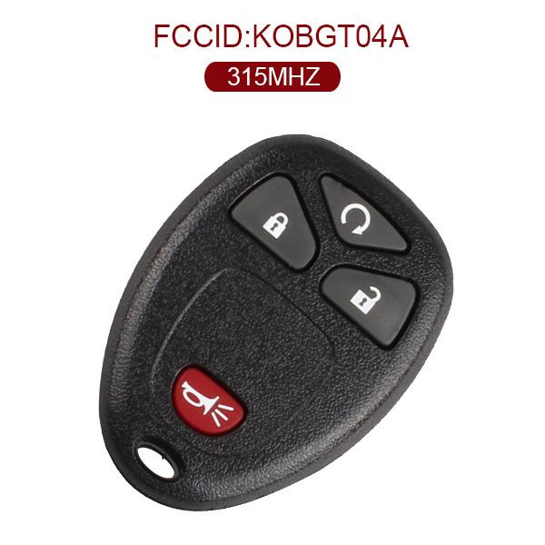 AK019004 4 Buttons Remote Start Car Key Fob for Buick for Chevrolet Pontiac KOBGT04A