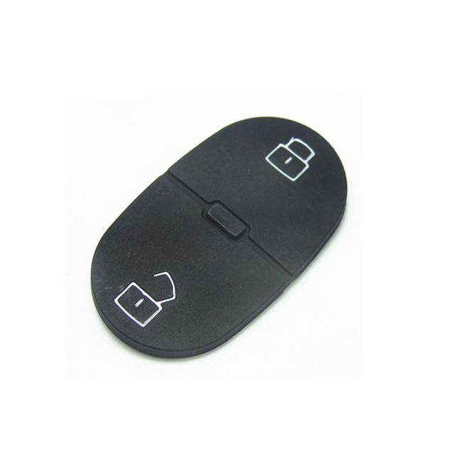 2 buttons Remote Key Rubber Pad for VW - Pack of 10