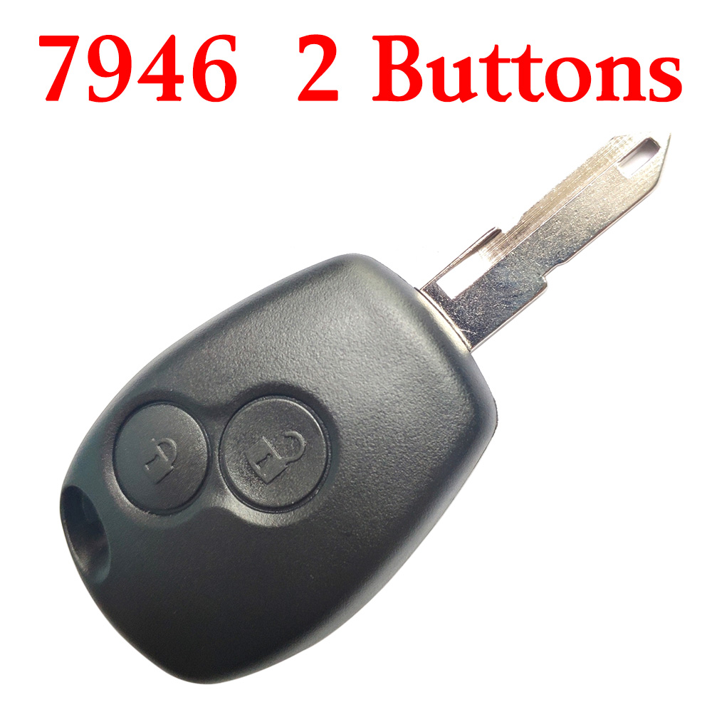 2 Buttons Remote Key for RenaultTraffic Master Vivaro Movano Kango433MHz with PCF7946 chip