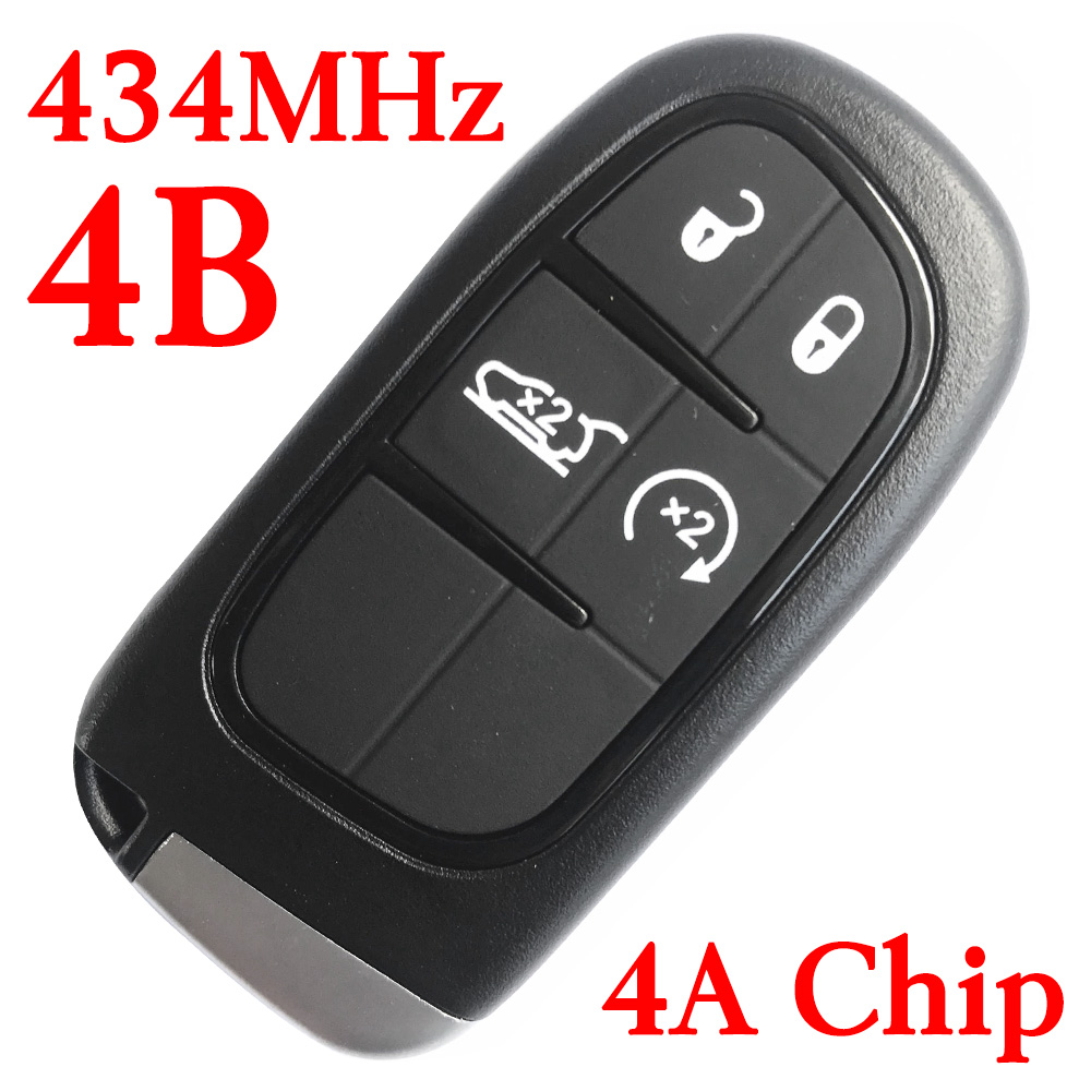 434 MHz 4 Buttons Smart Proximity Key for Jeep Cherokee 2014-2018 GQ4-54T (4A Chip)