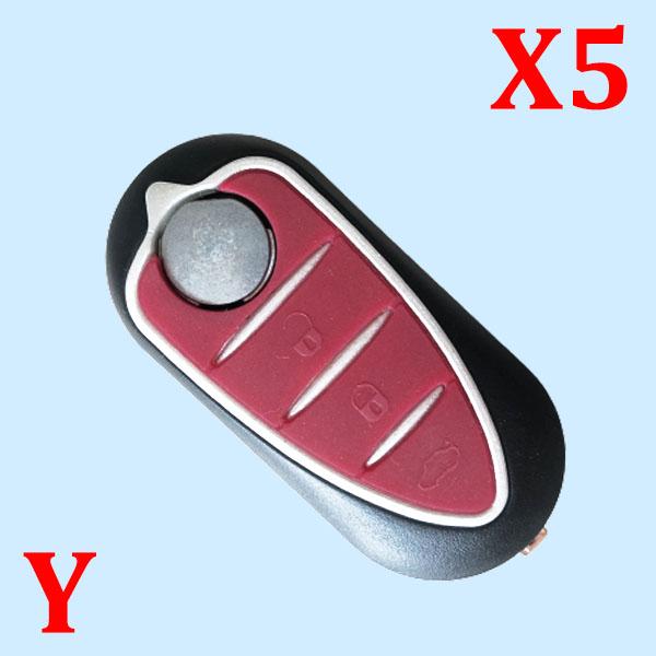 3 Buttons Flip key shell for Alfa Romeo - 5 pcs