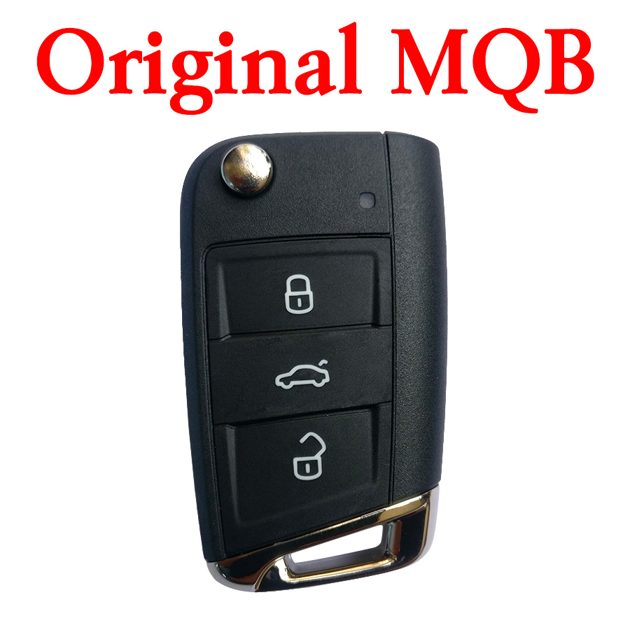Original VW Golf 7 MQB Flip Remote Key - 434 Mhz without Proximity - 5G6 959 752 AG
