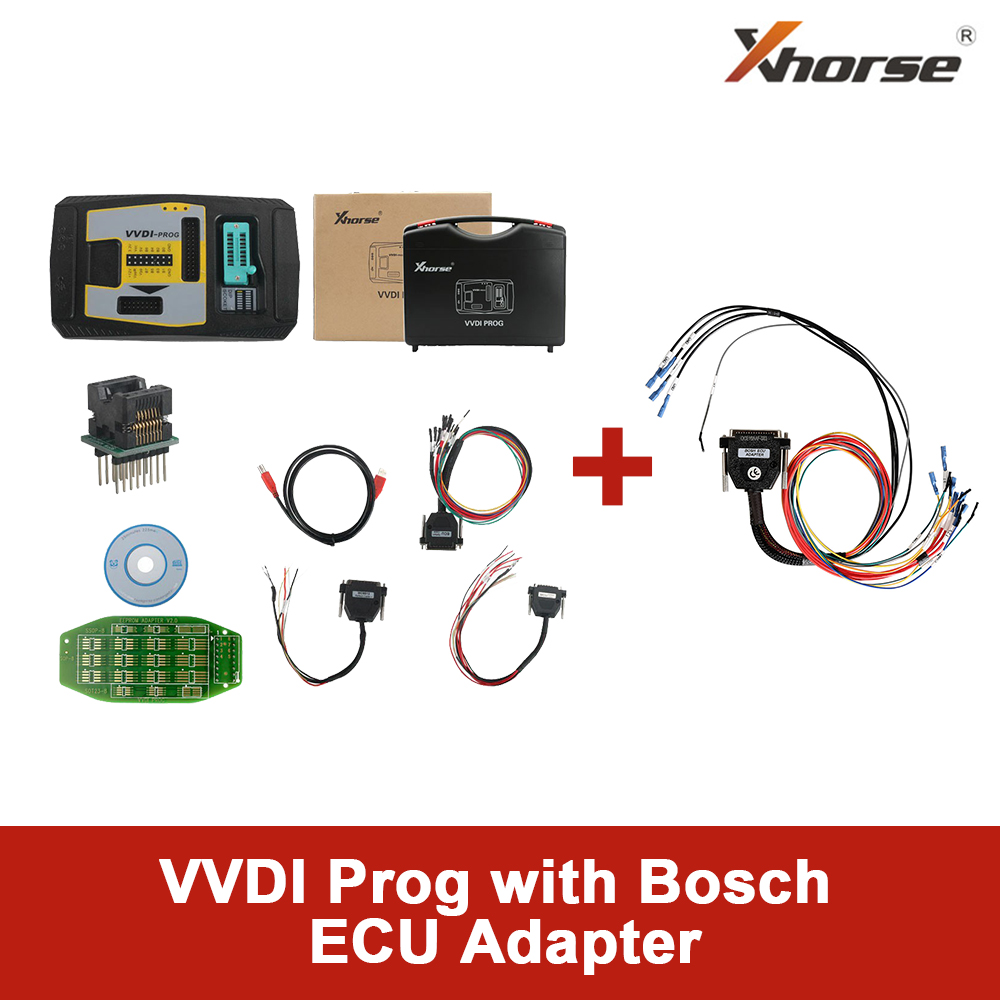 Original Xhorse VVDI Prog Programmer with extra Bosch ECU Adapter Read BMW ECU N20 N55 B38 ISN without Opening