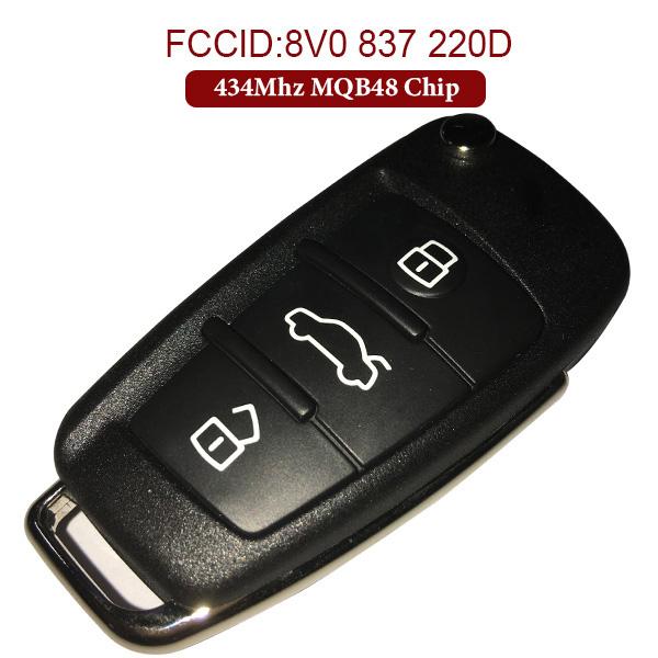 Original 434 MHz Smart Proximity Key for Audi A1 A3 - 8V0 837 220 D