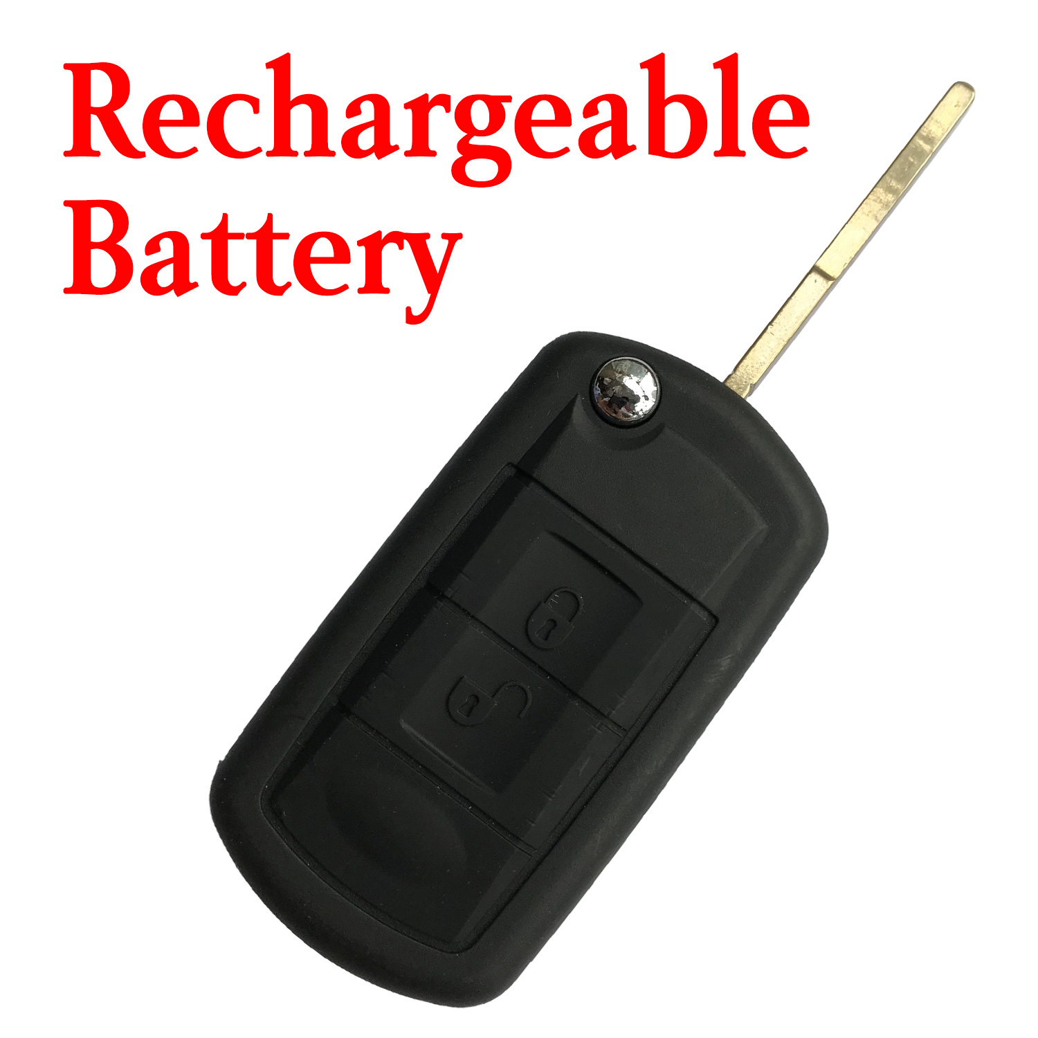 3 Buttons 434 Mhz Flip Remote Key for Land Rover Sport Discovery Vogue - With Rechargeable Battery