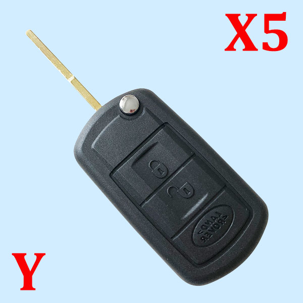 3 Buttons Filp Remote Key Shell for Land Rover - with HU101 Blade - Pack of 5
