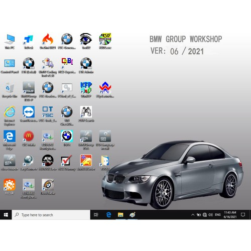 V2021.6 BMW ICOM Software HDD Win10 System ISTA-D 4.29.20 ISTA-P 3.68.0.0008 with Engineers Programming 500GB Hard Disk