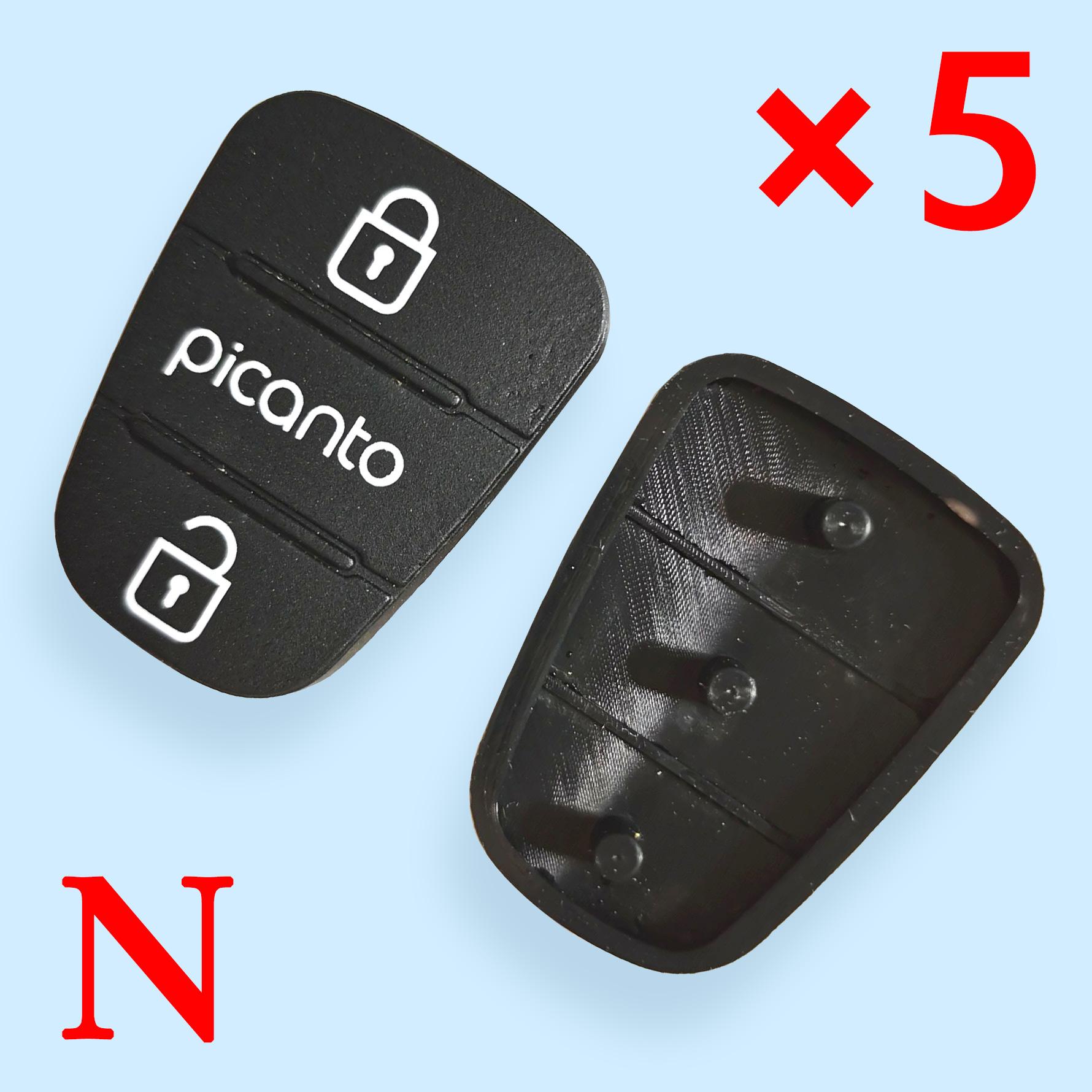 3 button Remote Keys Rubber Button Pad for Kia Picanto 10 pcs