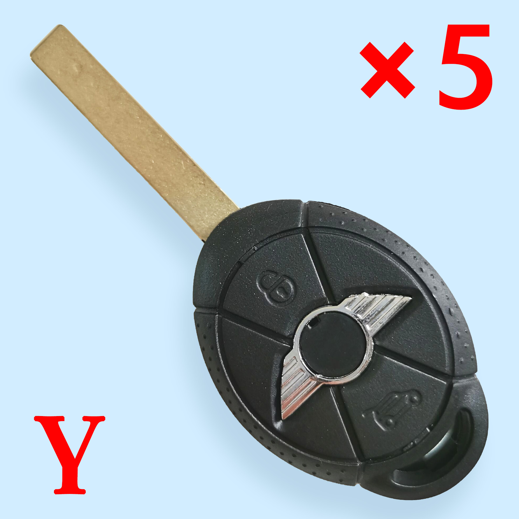 3 Buttons Key Shell for Mini Cooper - 5 pcs