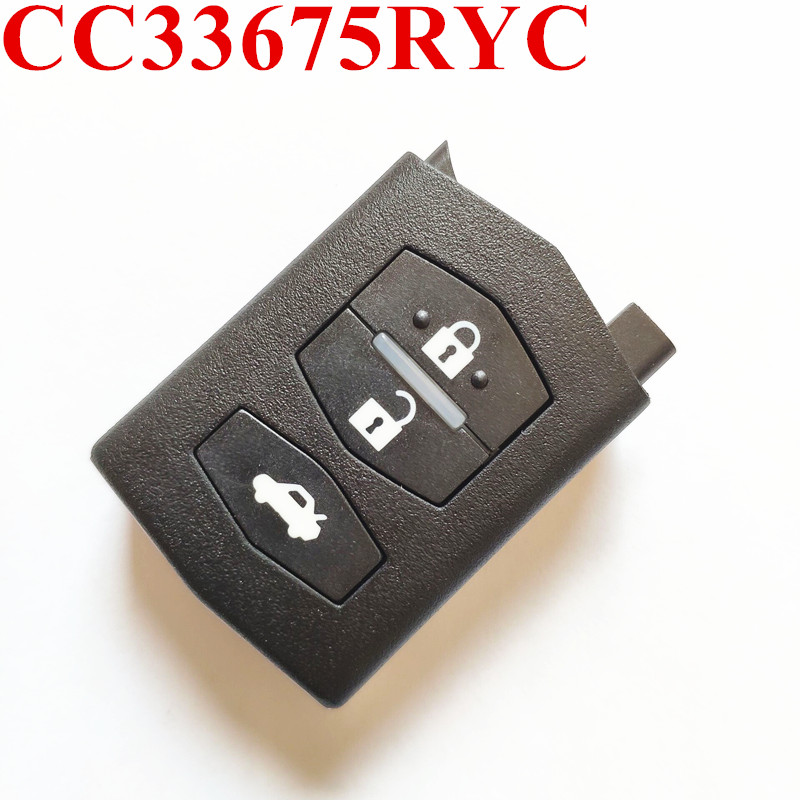 3 Buttons Car Remote Key Fit for MAZDA CC33675RYC