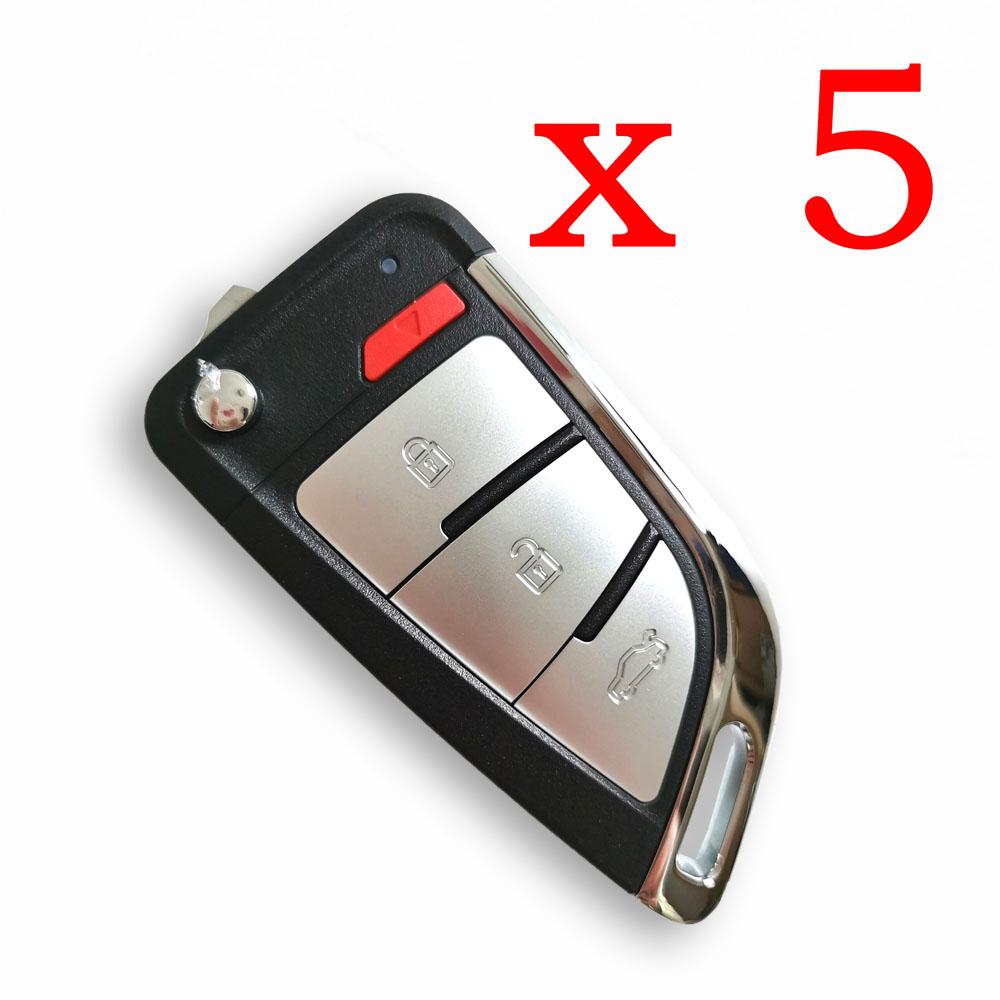 Xhorse VVDI XKKF22EN New Arrival Knife Style Remote Key Wire for VVDI2 VVDI Key Tool Max MINI Key Tool - 5 pcs
