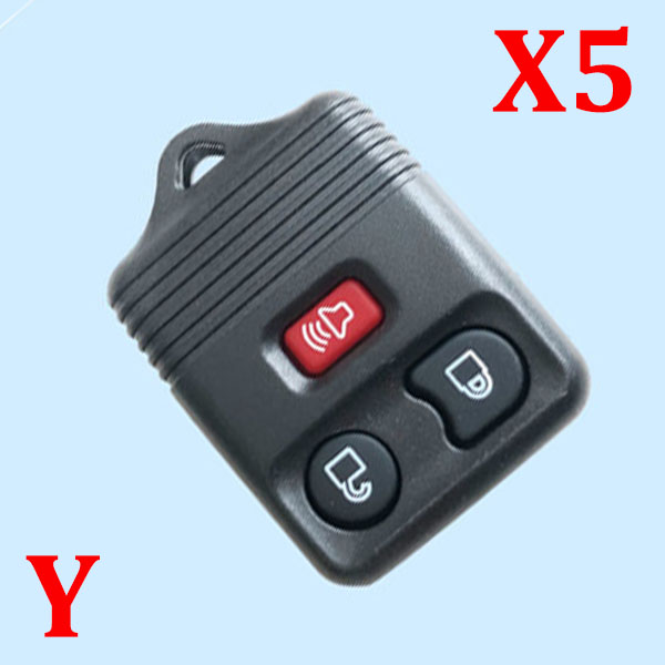 3 Button Remote Shell for Ford - 5pcs