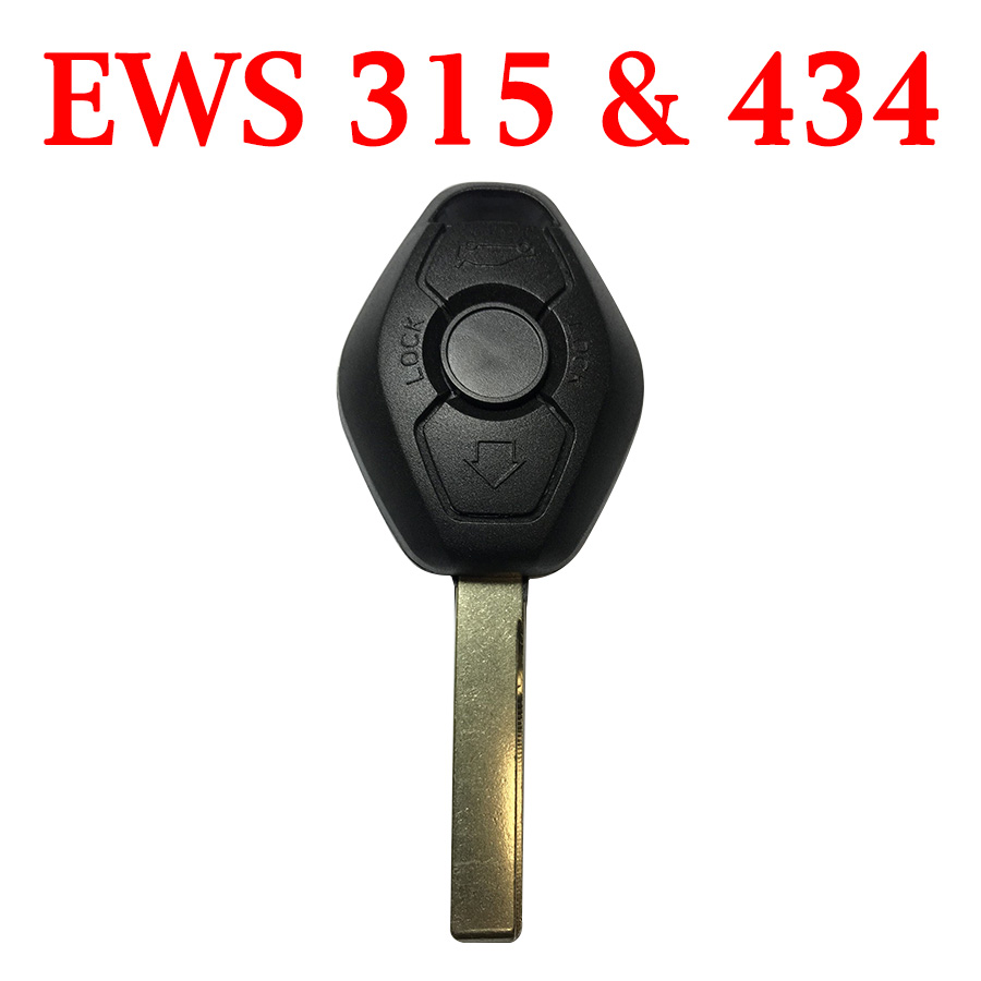 2 Buttons Remote Key for BMW EWS - 315 MHz 434 MHz Changeable Frequency