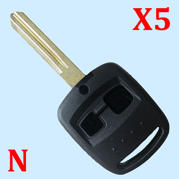 2 Buttons Remote Key Shell for Subaru - Pack of 5