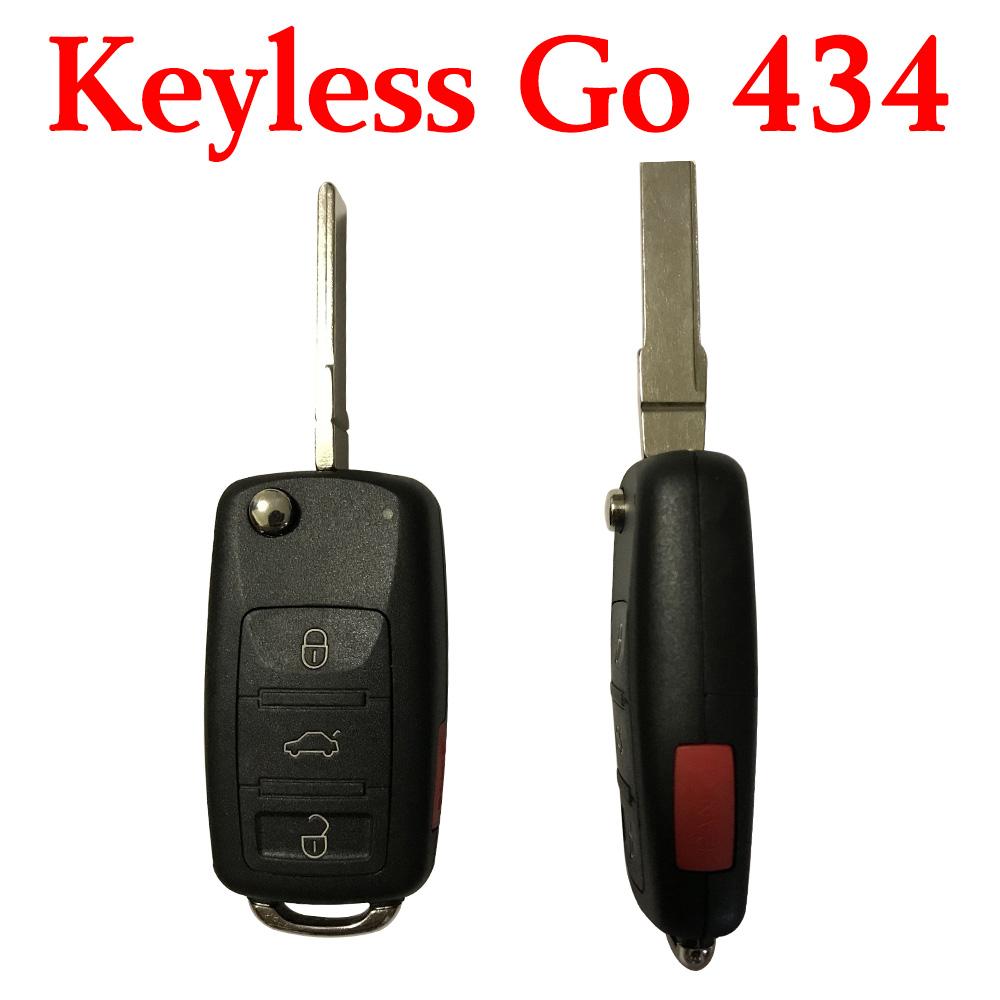 3+1 Buttons 434 MHz Flip Proximity Key for VW Touareg A8 Bentley
