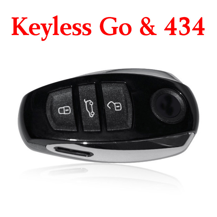 Original 3 Buttons 434 MHz Flip Proximity Key for VW Touareg PCF7945 Keyless Go - 7P6 959 754AQ