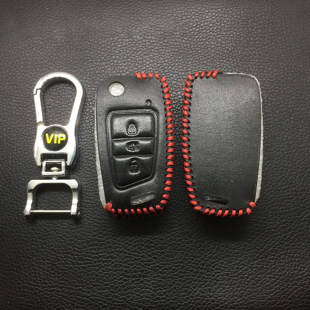 Leather Case for Steel Mate 6031 Folding Car Key - 5 Sets