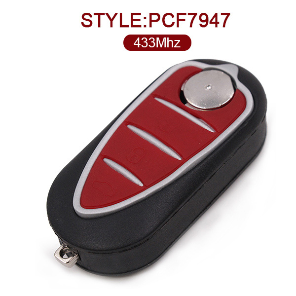 AK059003 for Alfa Romeo Folding Remote Key Fob 3 Button 433MHz PCF7947 147 156 166 GT